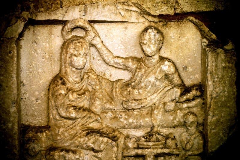 古色古香的希腊艺术Barble背景 库存照片