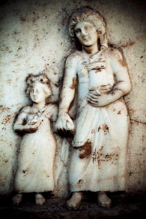 古色古香的希腊艺术Barble背景 免版税库存照片