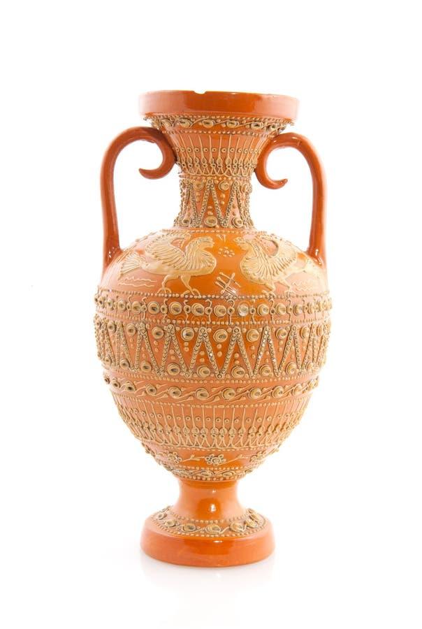 古色古香的希腊花瓶 库存照片