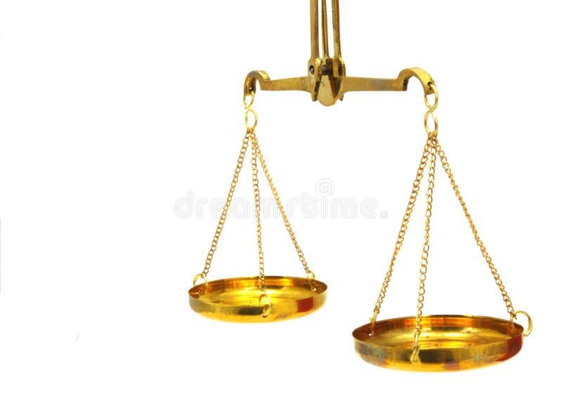 古色古香的平衡缩放比例 免版税库存照片