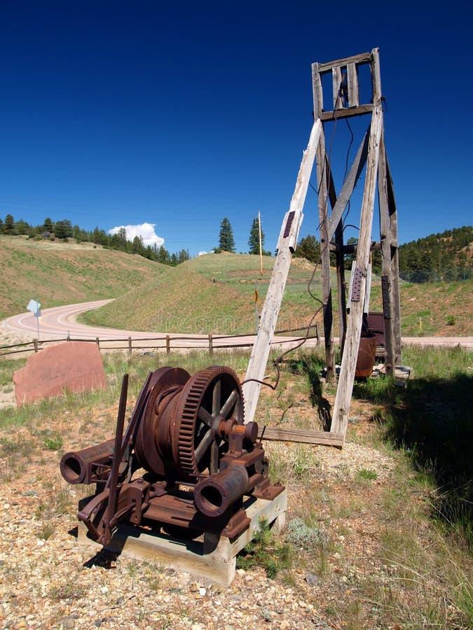 古色古香的开采的Equpment 免版税库存图片
