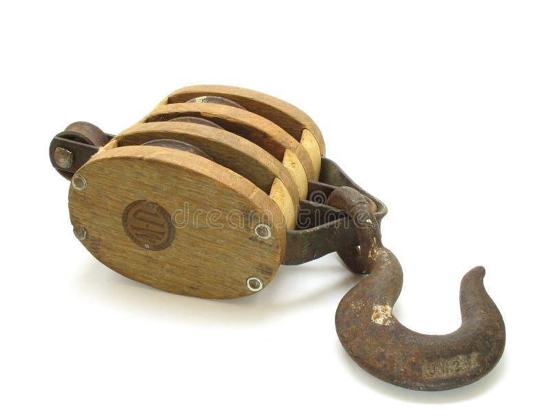 古色古香的异常分支滑轮 免版税库存照片