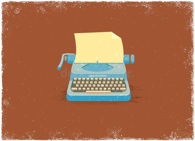 古色古香的打字机 库存例证