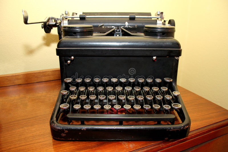 古色古香的打字机 库存图片