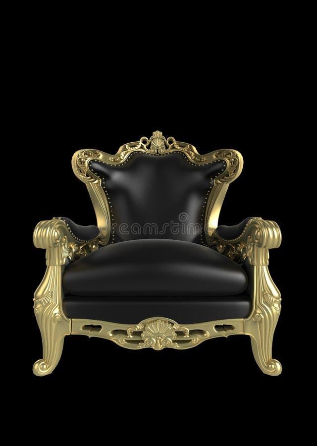 古色古香的扶手椅子 皇族释放例证