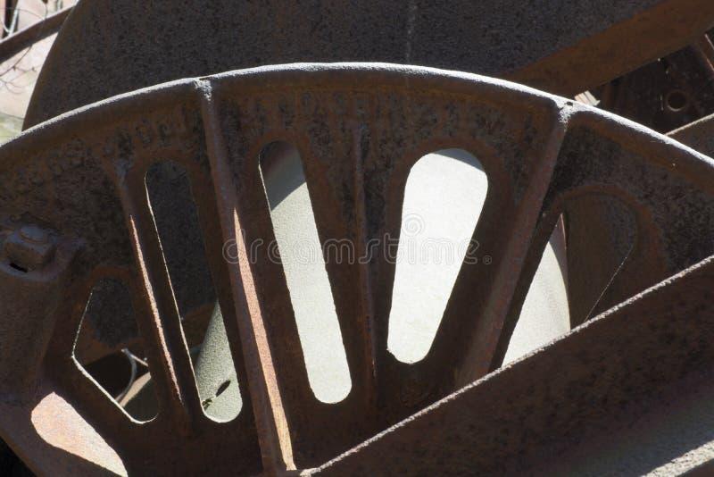 古色古香的抽油装置细节 库存照片