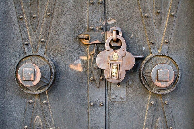 古色古香的挂锁 库存照片