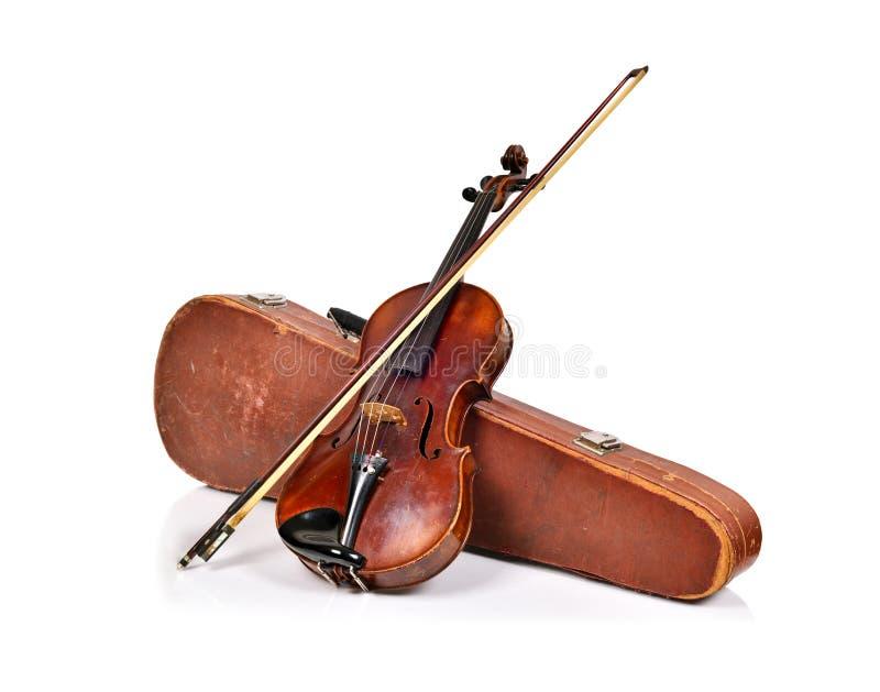 古色古香的无意识而不停地拨弄情形和小提琴 图库摄影