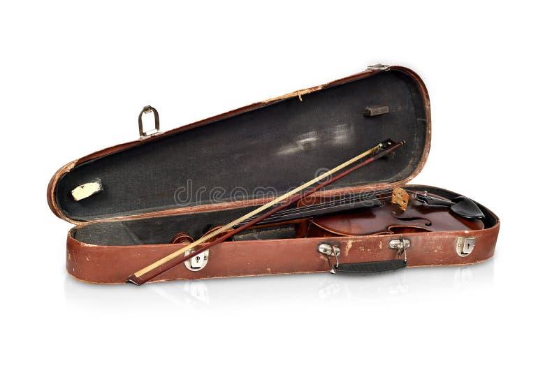 古色古香的无意识而不停地拨弄情形和小提琴 库存照片