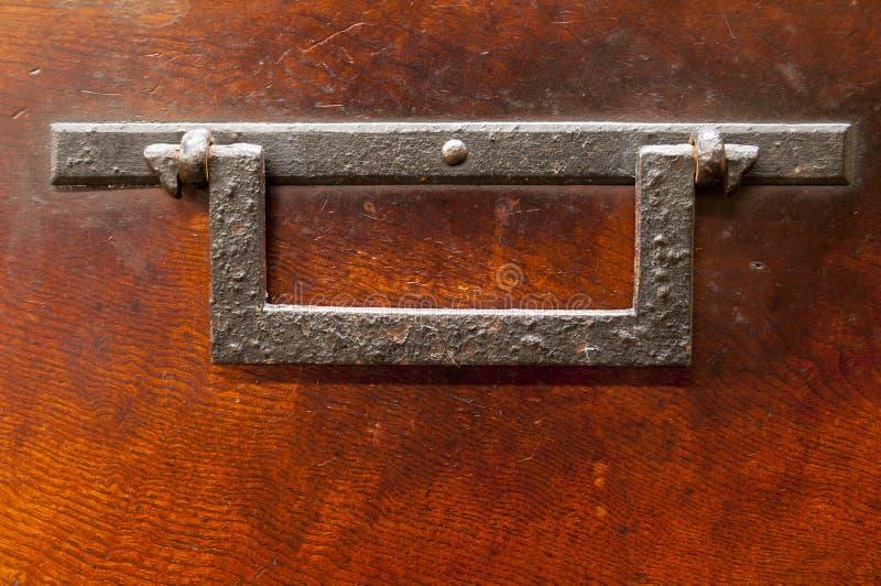 古色古香的日本包铁胸口细节  库存图片