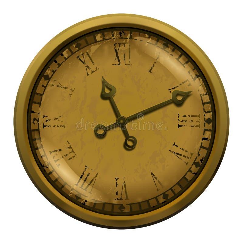 Download 古色古香的时钟例证 库存例证. 插画 包括有 纸张, analytics, 木头, browne, 金子 - 62530047