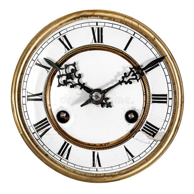 古色古香的时钟葡萄酒 免版税库存图片