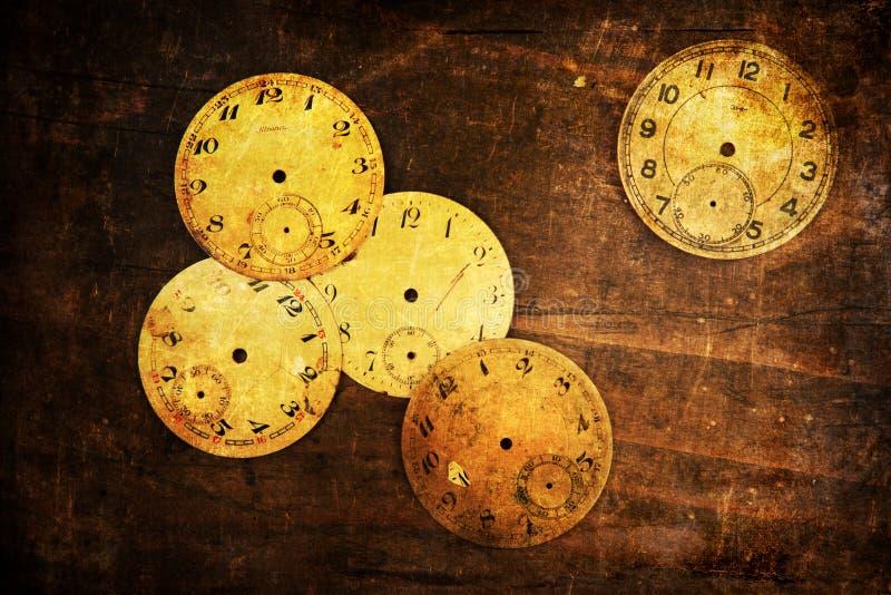 古色古香的时钟表盘的难看的东西织地不很细图片 库存图片