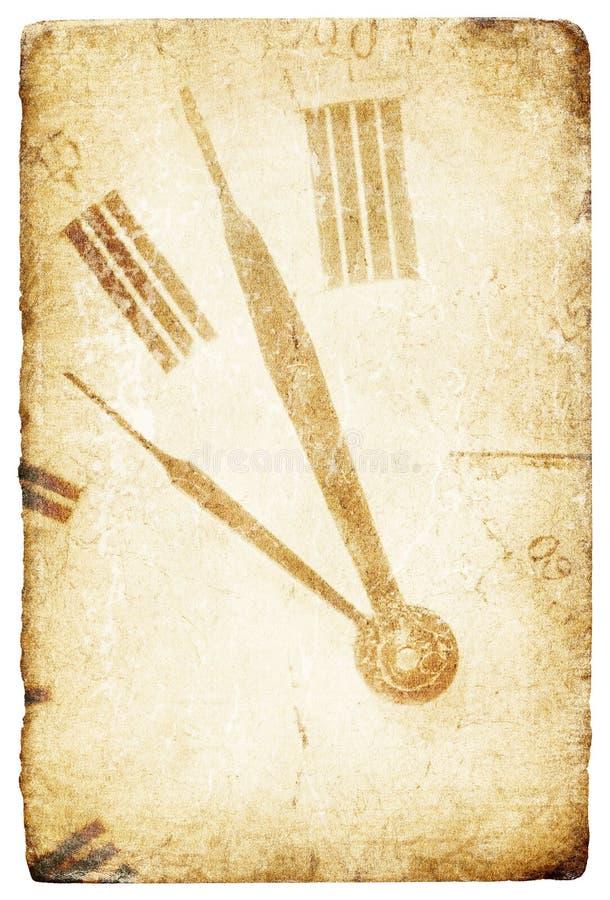 古色古香的时钟表盘矿穴 库存例证