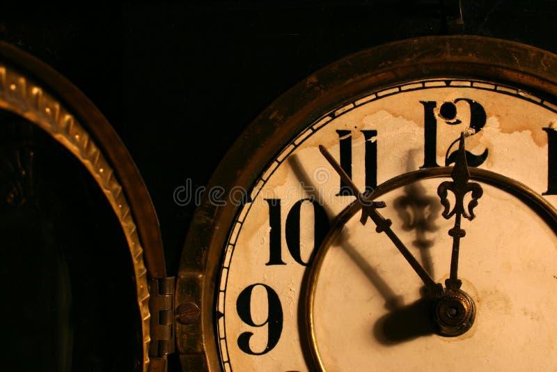 古色古香的时钟表盘 图库摄影