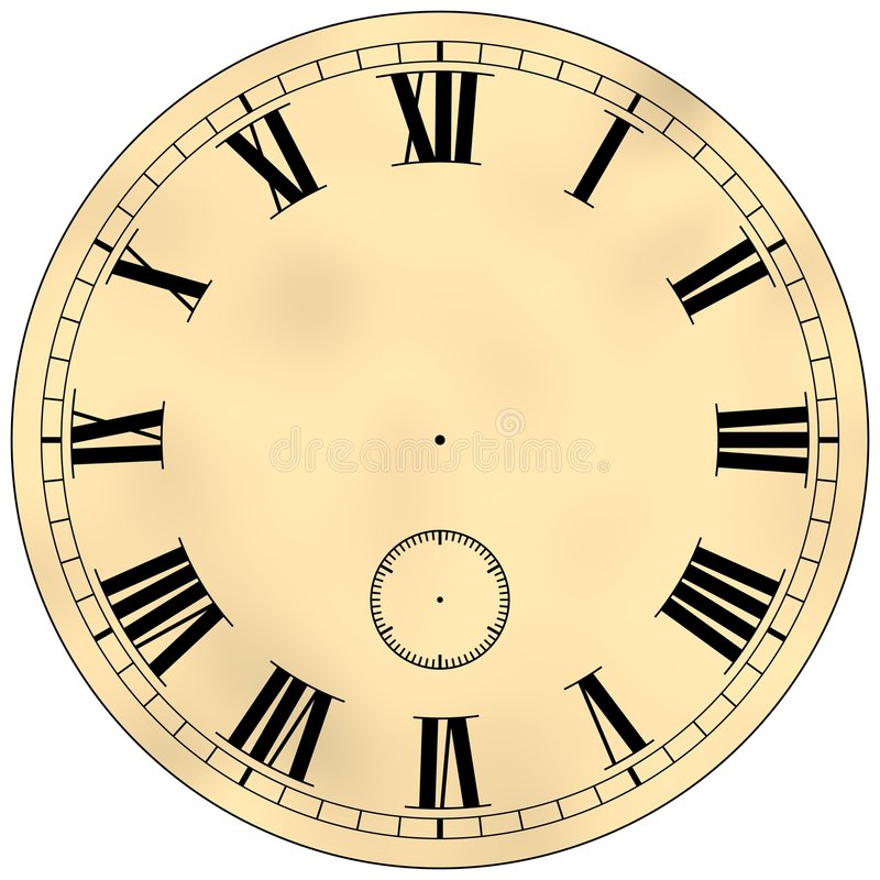 古色古香的时钟表盘 库存例证