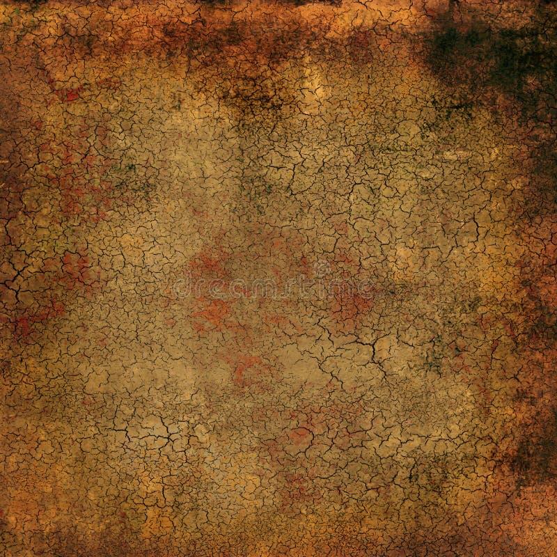 古色古香的有裂痕的纹理 向量例证