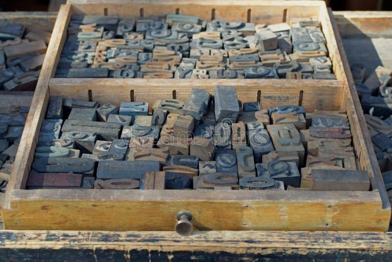 古色古香的木信件 库存照片