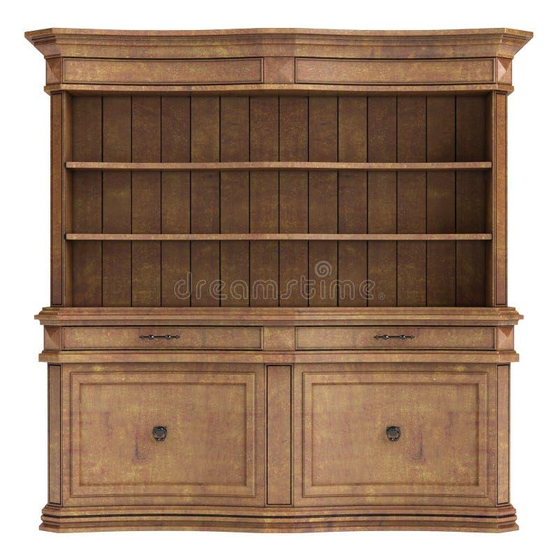 古色古香的木机柜 皇族释放例证