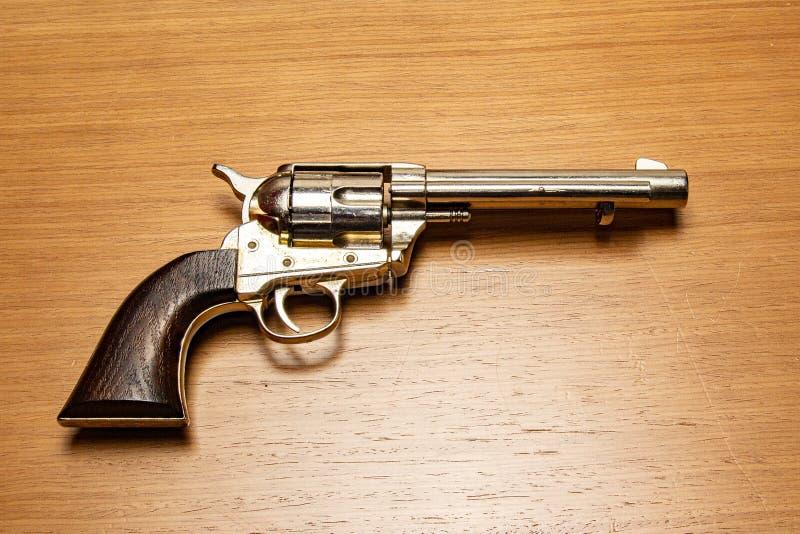 古色古香的枪手枪 免版税库存照片