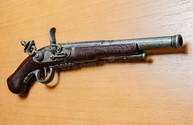 古色古香的枪手枪 免版税库存图片
