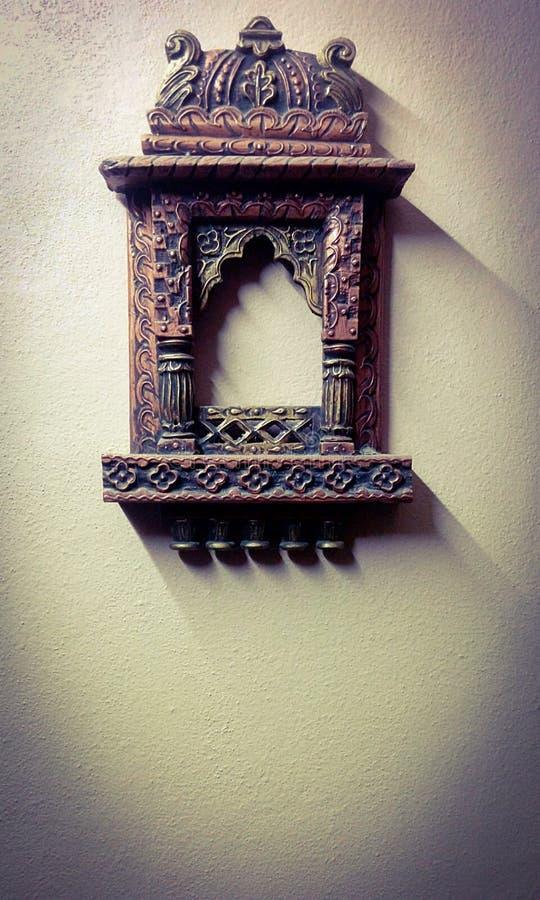 古色古香的框架布朗 库存图片
