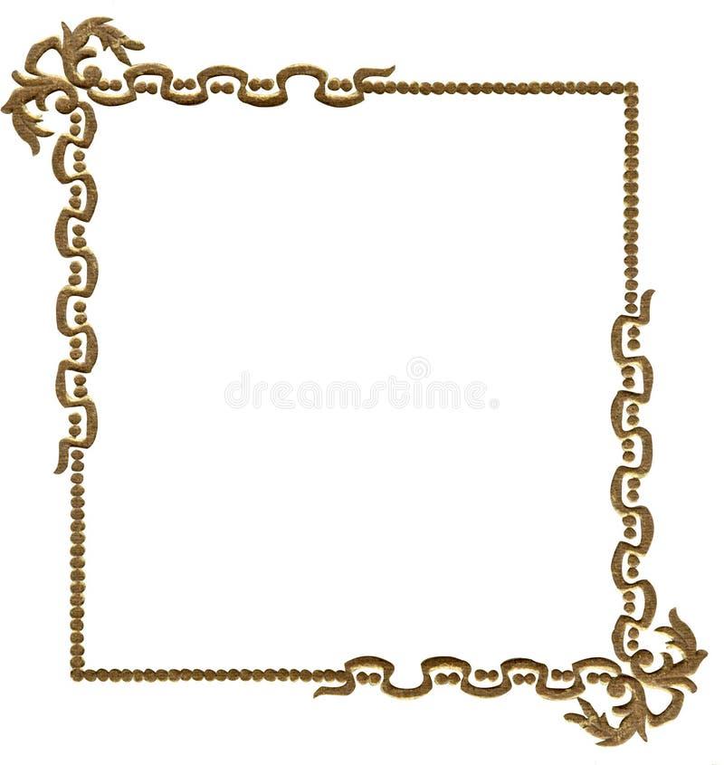 古色古香的框架照片 皇族释放例证