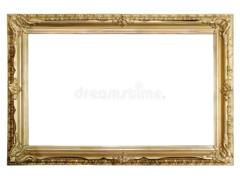 古色古香的框架金黄照片 库存照片