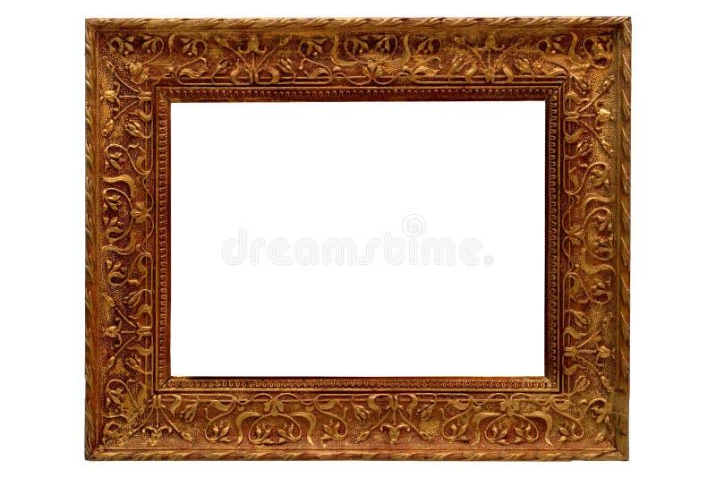 古色古香的框架镀金了金老照片样式 库存图片