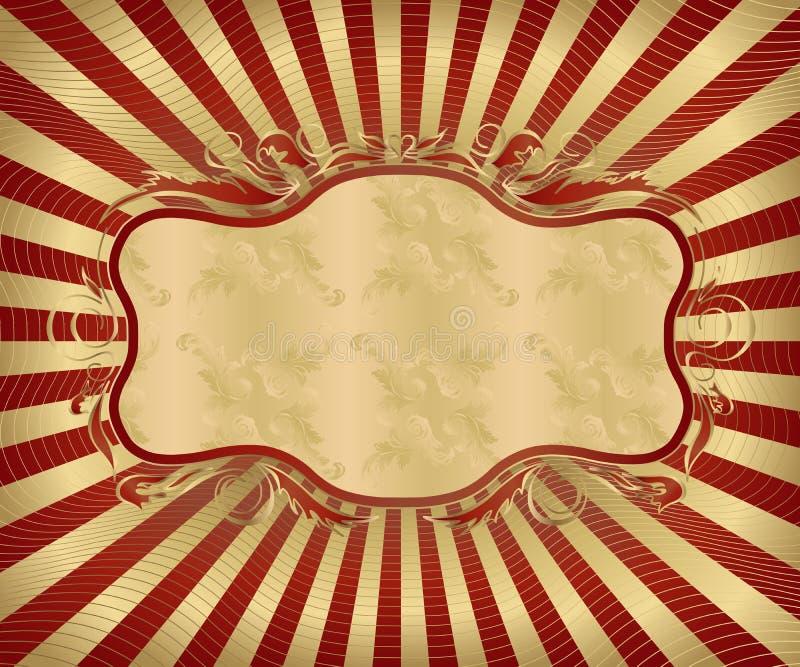 古色古香的框架 皇族释放例证