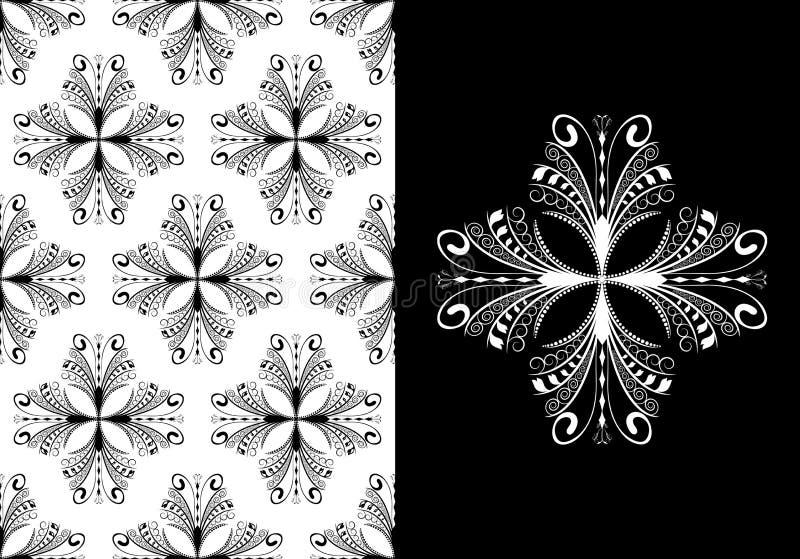 古色古香的模式无缝的维多利亚女王&# 向量例证
