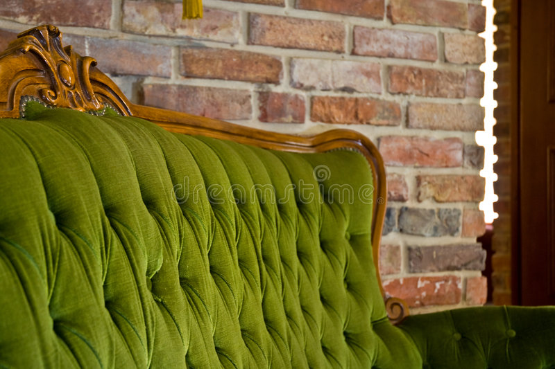 古色古香的沙发 库存图片