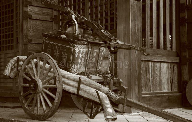 古色古香的消防泵 免版税库存照片