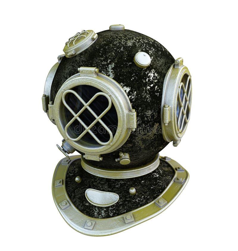 古色古香的潜水者盔甲 向量例证