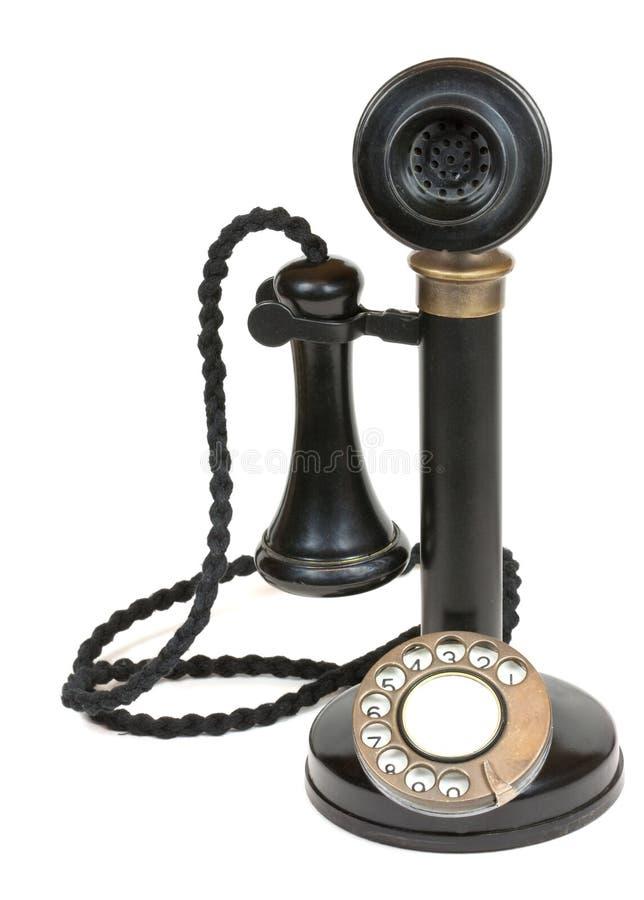 古色古香的烛台电话 库存图片