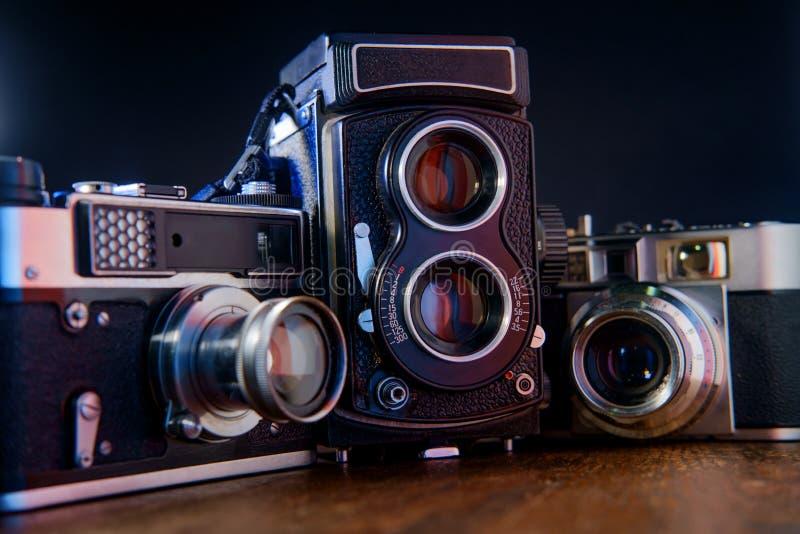 古色古香的照相机影片 免版税库存图片