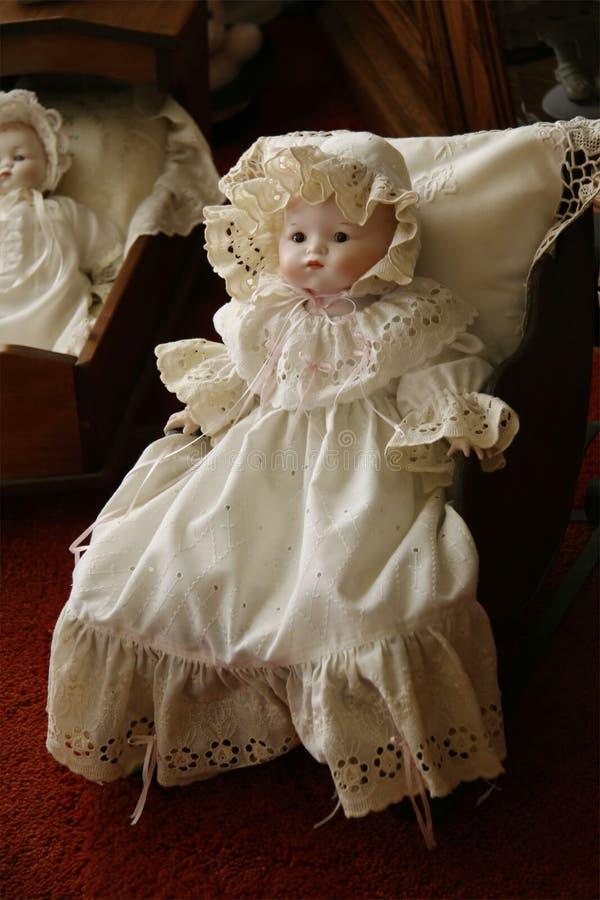 古色古香的玩偶维多利亚女王时代的著名人物 库存照片