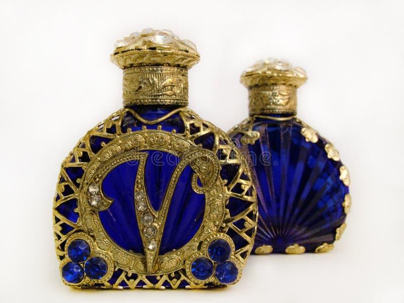 古色古香的瓶香水 免版税图库摄影