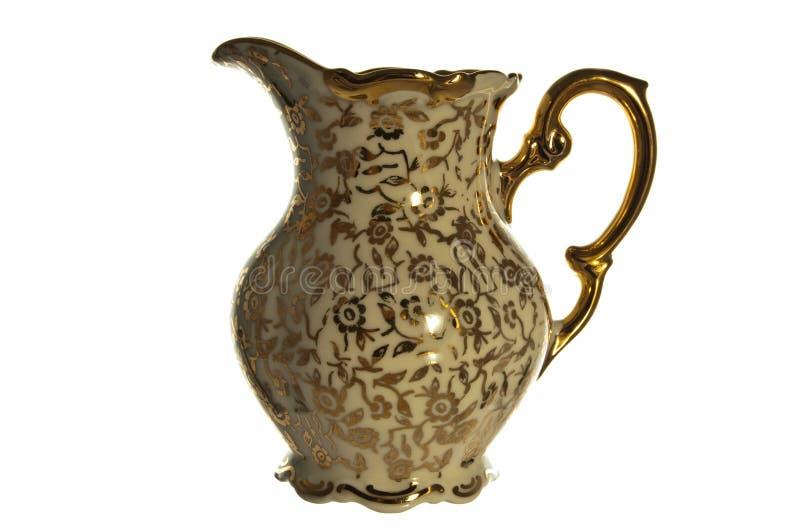 古色古香的瓷水罐 库存照片