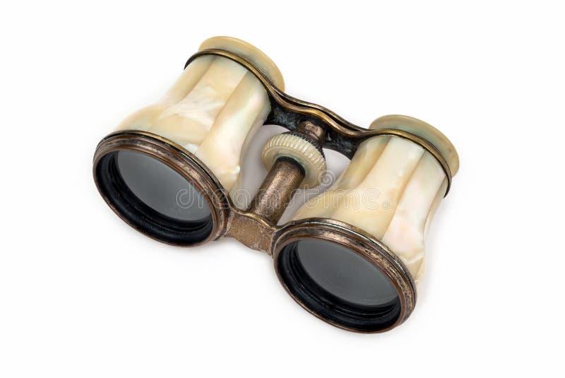 古色古香的真珠色的望远镜 库存照片