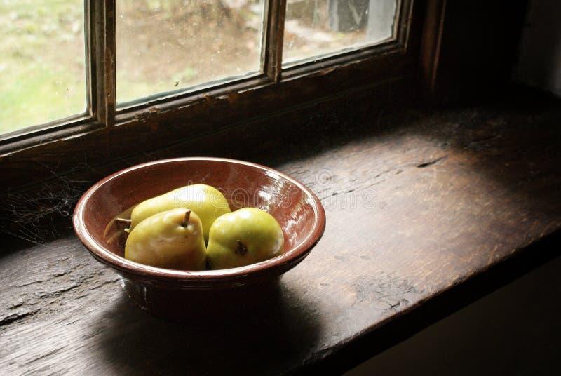 古色古香的碗梨 库存图片