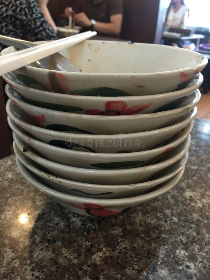 古色古香的碗 免版税库存照片