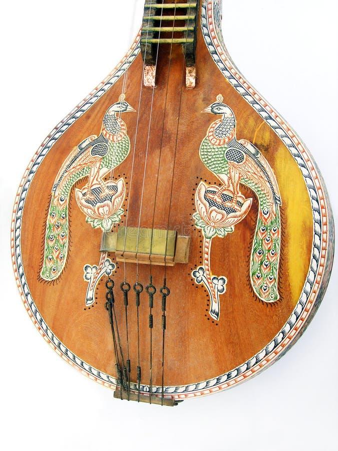 古色古香的种族印第安音乐veena 库存图片
