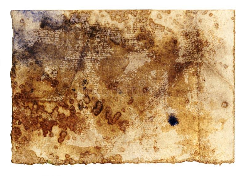 古色古香的纸张 皇族释放例证