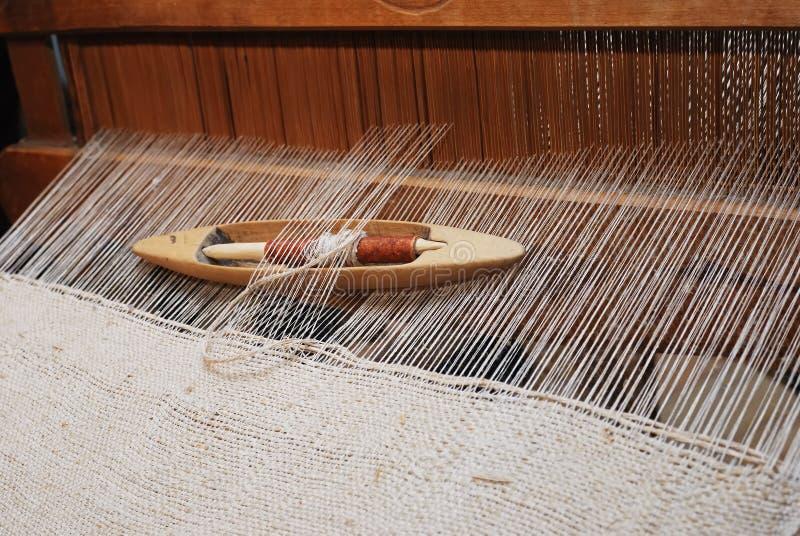 古色古香的织布机 库存图片