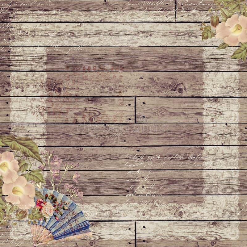古色古香的背景木头 免版税库存照片