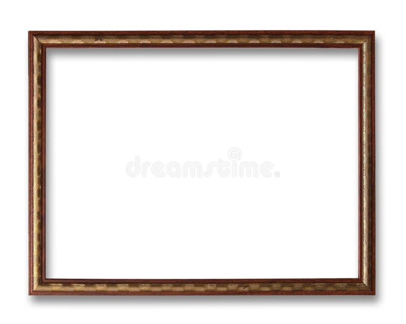 古色古香的背景框架查出的白色 免版税库存图片
