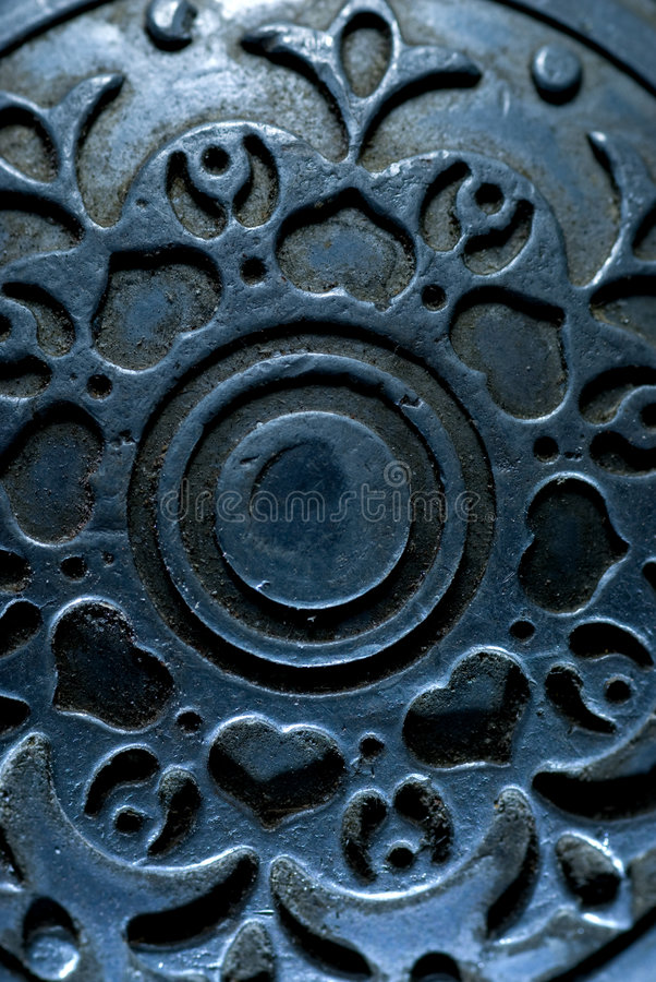 古色古香的背景金属葡萄酒 免版税库存图片
