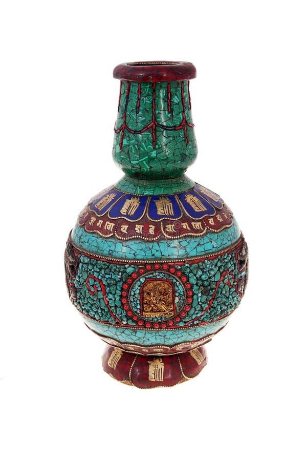 古色古香的花瓶 图库摄影