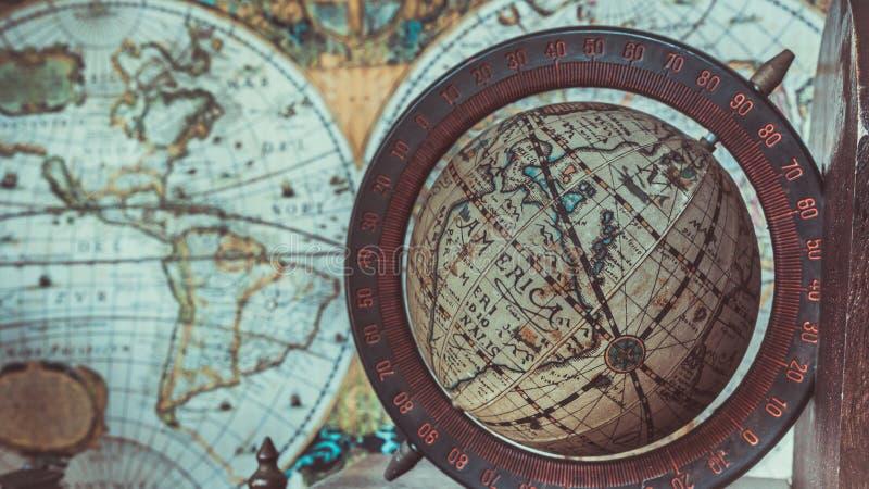 古色古香的葡萄酒世界地球模型照片 免版税库存图片